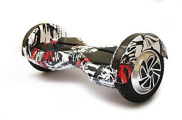 "Гироскутер гироборд Smart Balance Wheel Transformers с пультом Bluetooth 8"" Graffiti Граффити черепа"