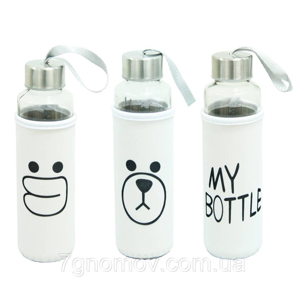Бутылка для воды и напитков пластиковая Милота 400 мл