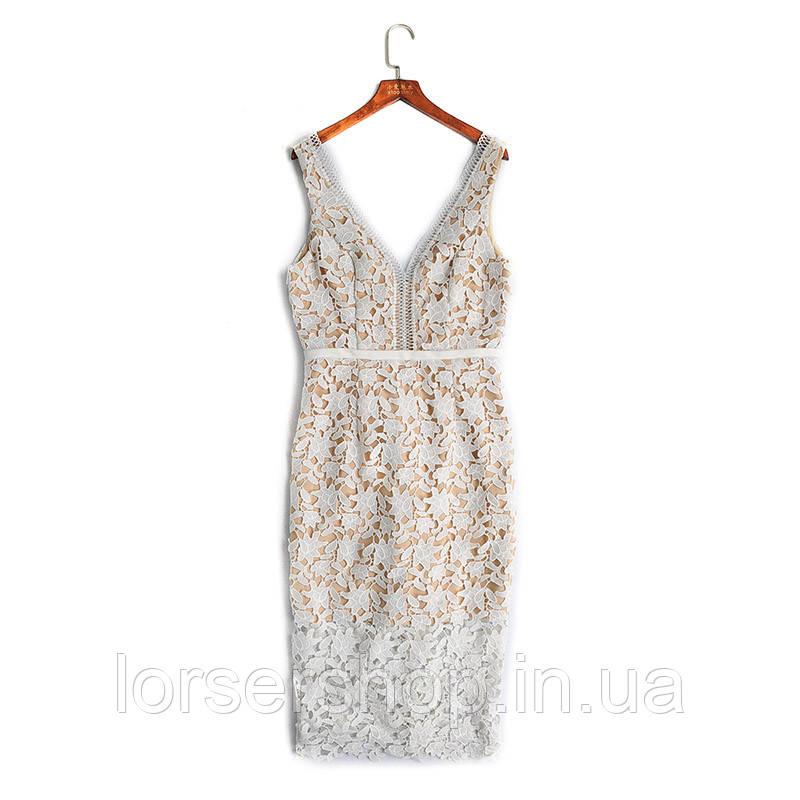 602c9d01aed6558 Платье женское белое кружевное , нарядное платье : продажа, цена в ...