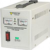 Стабилизатор напряжения FORTE TVR-500VA(2 аналог.дисплея)