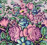 Заветная мечта 1821-1, павлопосадский платок шерстяной  с осыпкой (оверлоком), фото 5