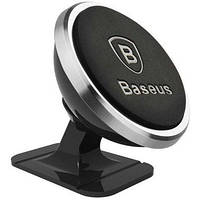 Автодержатель для телефона Baseus 360-degree Rotation Magnetic Mount Holder(Paste type) Silver
