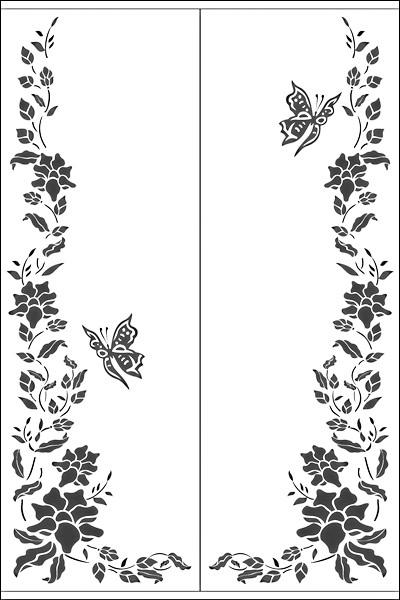 Пескоструйный рисунок на 2 двери