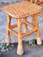 Табуретка. Плетеная мебель из лозы.