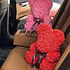 Мишка из роз 25 см в подарочной упаковке, фото 7