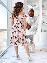 Платье  БАТАЛ принт в расцветках  461074, фото 3
