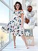 Платье  БАТАЛ принт в расцветках  461074, фото 5