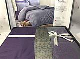 Комплект  постельного белья  жаккард ТМ Nazenin евро размер Lavida mor, фото 2