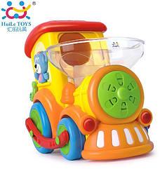 Детская игрушка на батарейках Huile Toys Паровозик Ту-Ту (958)