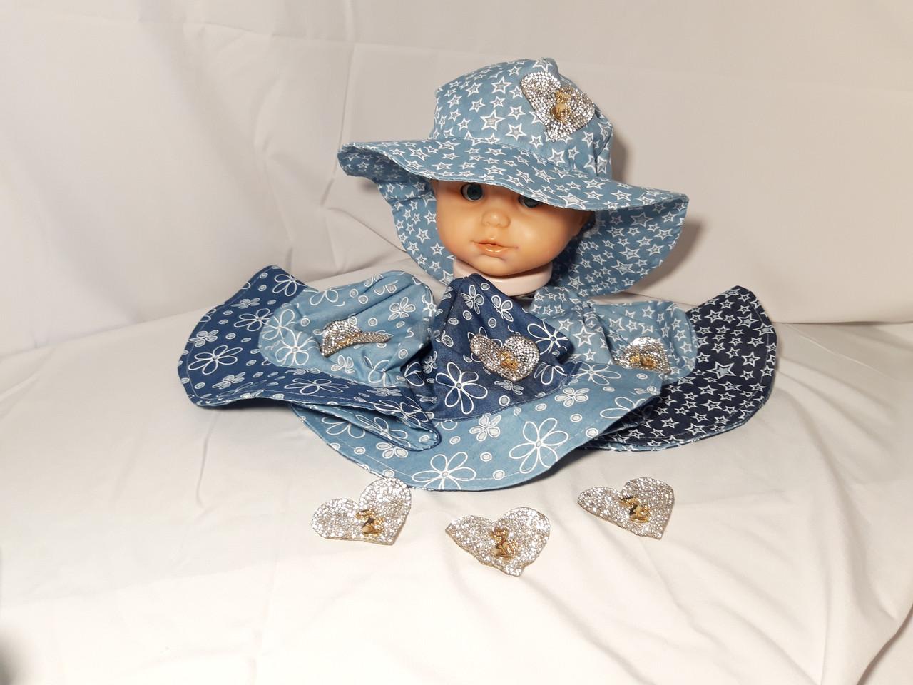 """Летняя шляпка """" Сердце принцессы """" 2-4 года"""