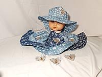 """Летняя шляпка """" Сердце принцессы """" 2-4 года, фото 1"""