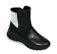 Женские кожаные ботинки на меху, из натуральной кожи от производителя ТМ ARRA