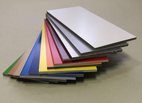Алюмінієва композитна панель SKYBOND срібло, 3 мм (0,21/0,21), лист 1500х5800 мм, фото 2