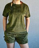 Женский летний спортивный велюровый костюм, Турция