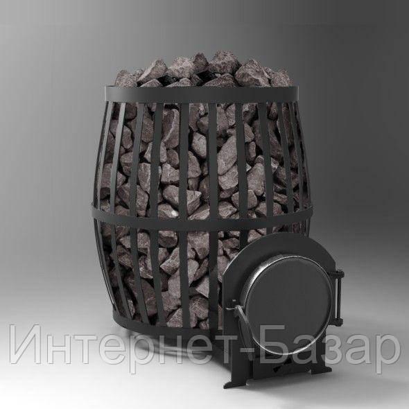 Печь каменка на дровах ПКБ-Бочка 02