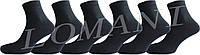 """Чоловічі шкарпетки чорні з високоякісної бавовни, еліт """"lomani"""""""