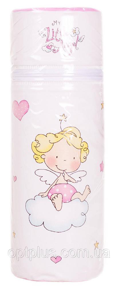 Термоконтейнер Ceba Baby Standard 63*63*225мм Little Angel  белый-розовый (ангелочек), фото 1