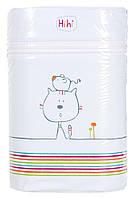 Термоконтейнер Ceba Baby Double 85*155*230мм*2шт бутылочки  светло-бирюзовый (кот, мышь), фото 1