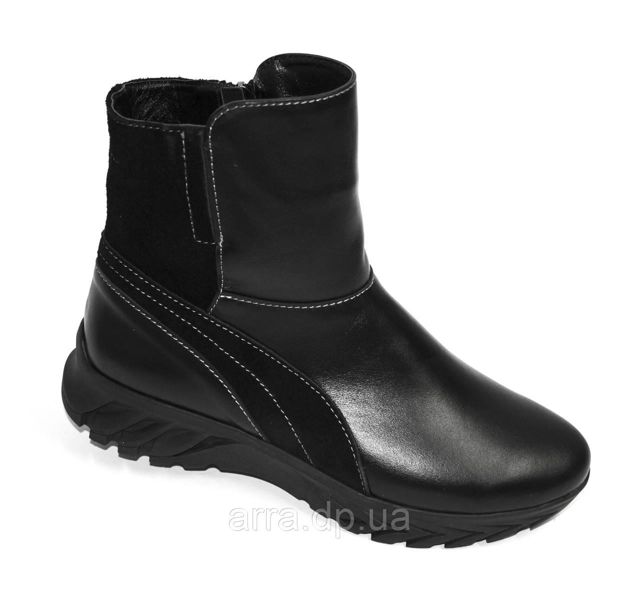 Женские зимние ботинки на меху, из натуральной кожи от производителя ТМ ARRA