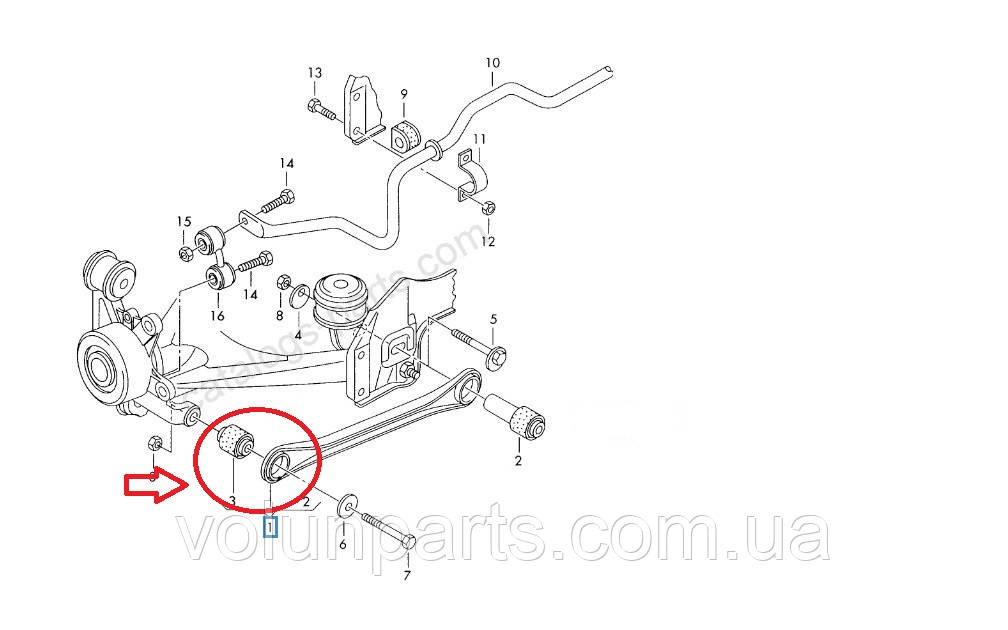 Подушка розвальной тяги Audi a6c5/Audi a6c5 allroud/passat b5 quattro