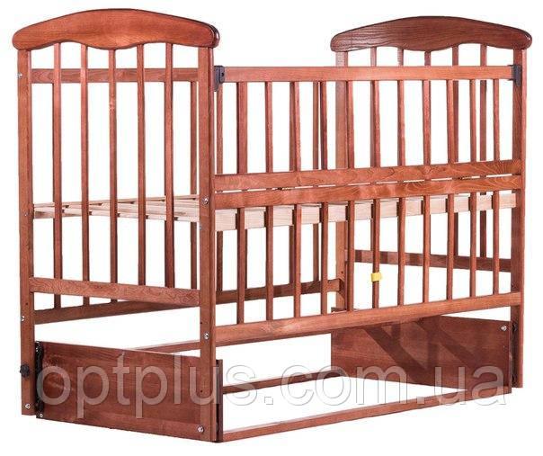 Кровать Наталка ЯТМО маятник, откидной бок  ясень темный, фото 1