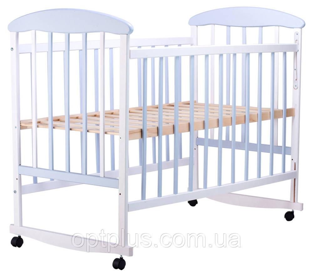 Кровать Наталка ОБГ  ольха бело-голубая, фото 1