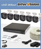 """Комплект наружного видео наблюдения 6-ти камер  """"UHD 3K6out"""" 5Mp."""