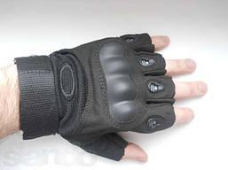Перчатки тактические открытые черный