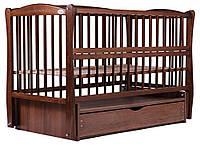 Кровать Babyroom Еліт маятник, ящик, откидной бок DEMYO-5  бук орех, фото 1