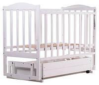 Кровать Babyroom Зайчонок Z301 маятник, ящик  белая, фото 1