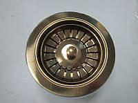 Евро вентиль без перелива (красное золото)