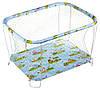 Манеж Qvatro Classic-01 крупная сетка  голубой (домашние животные)
