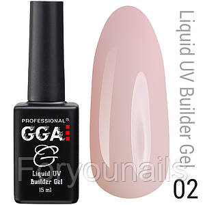 Жидкий гель Liquid Builder Gel GGA Professional 02 15 мл