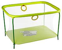 Манеж Qvatro LUX-02 мелкая сетка  желтый (слон dumbo)
