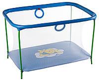 Манеж Qvatro LUX-02 мелкая сетка  синий (winnie pooh)