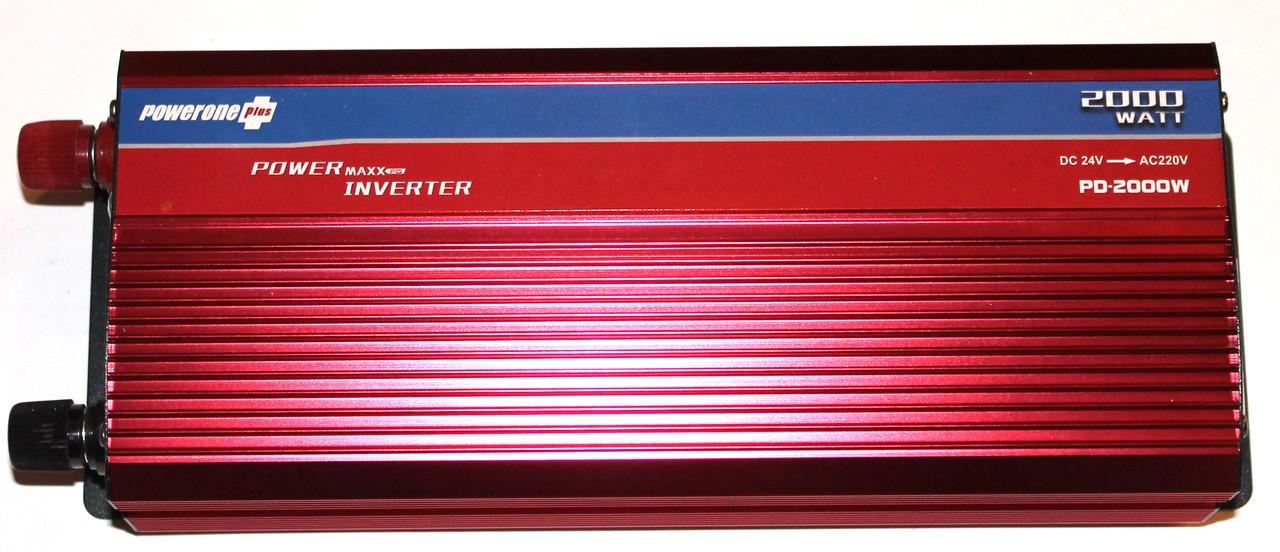 Преобразователь PowerOne Plus 24V-220V 2000W