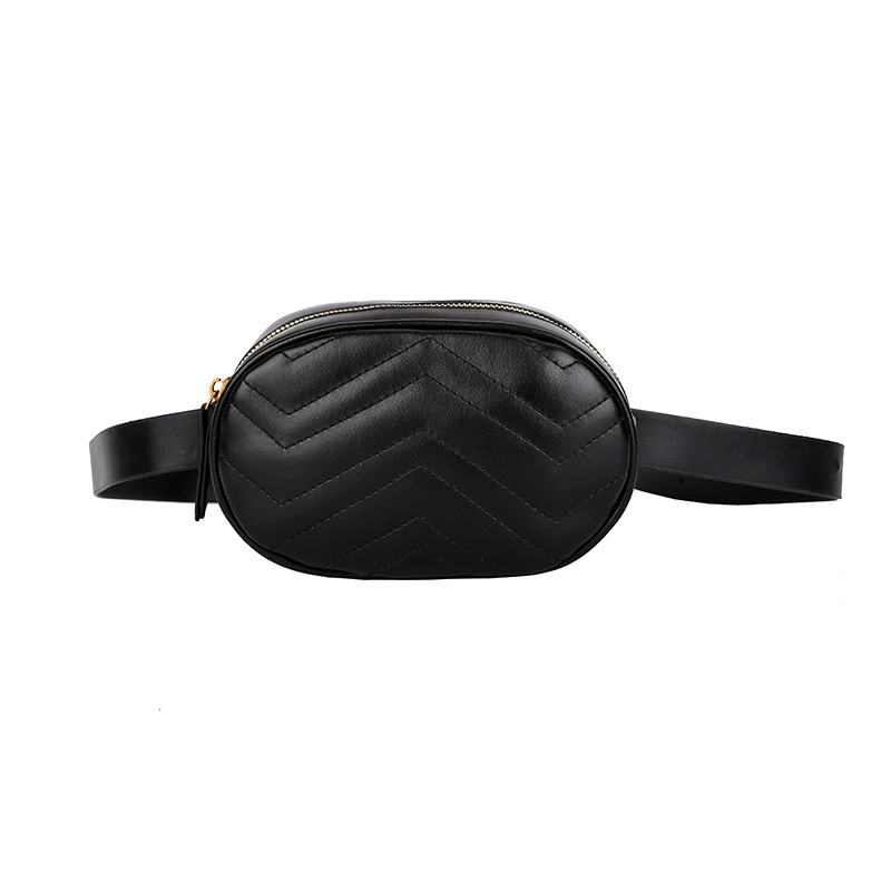 e91d39255a6b Маленькая женская поясная сумочка из стеганой экокожи черная купить ...