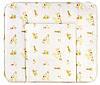 Пеленальный матрас Ceba Baby WD 85*70 multi  жирафы бежевый
