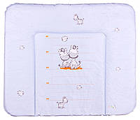 Пеленальный матрас Ceba Baby WD 85*70 multi  зебры голубой