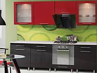 Кухя серии Штрих, фасад красно - черный, размер 2.4метра