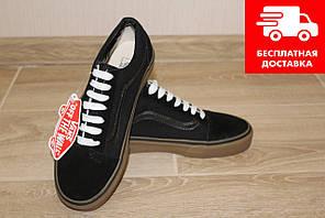 Кеди жіночі Vans Old Skool (Ванс) black/brown 38.5 розмір