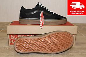 Кеди жіночі Vans Old Skool (Ванс) black/brown 39 розмір