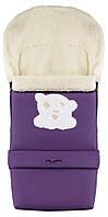 Зимний конверт Qvatro №20 с удлинением  фиолетовый (мордочка мишки штопаная), фото 1