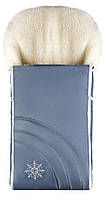 Зимний конверт Наталка NT-012  серо-голубой (снежинка)