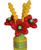 Цветы из шаров «Маки в колосках»