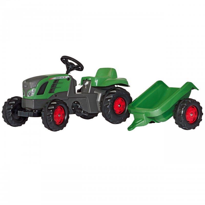 Большой педальный трактор RollyToys rollyKid с прицепом