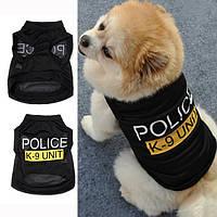 Майка для собак «Полиция», размер S