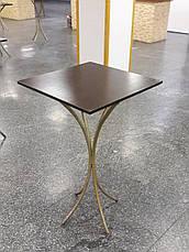 Стрейч чехол на стол 60х60/110 Квадратный Белый из плотной ткани Спандекс, фото 2