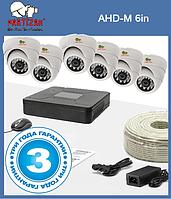 """Комплект видеонаблюдения из 6-ти камер """"Partizan AHD-M 6in"""""""