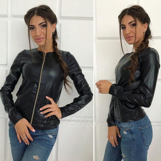 Куртка весенняя женская экокожа батал 50 и 52